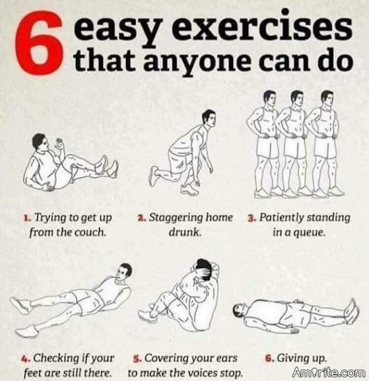 What does your daily exercise routine consist of?