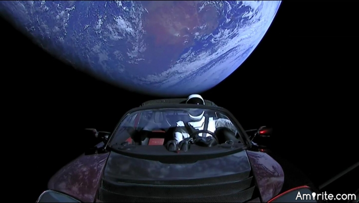 A Space Oddity: Is David Bowie the astronaut aboard the Tesla roadster launched into orbit by SpaceX?