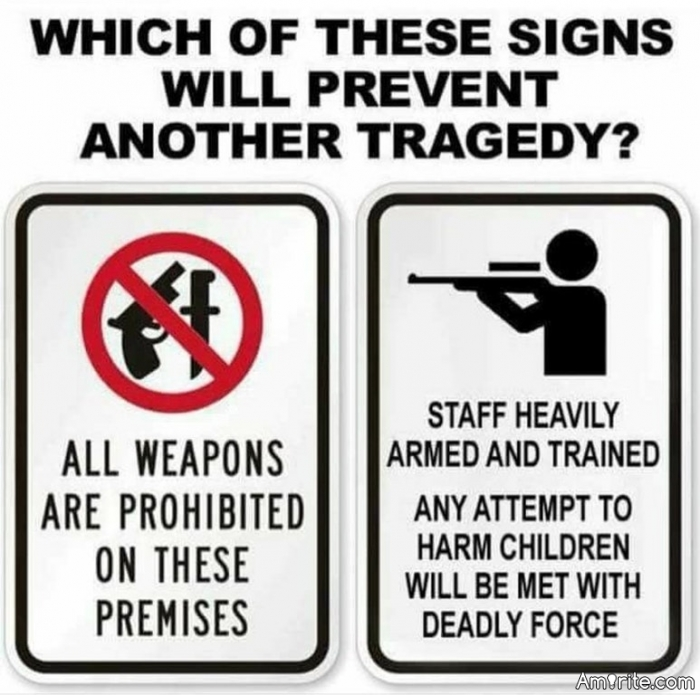 Which would prevent another school shooting: All firearms banned, or staff heavily armed