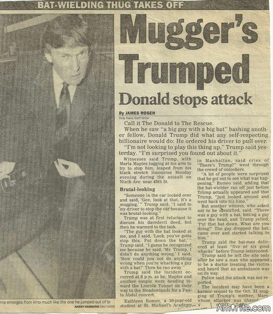 Flashback 1991: Donald Trump Stops Bat-Wielding Attacker in NYC
