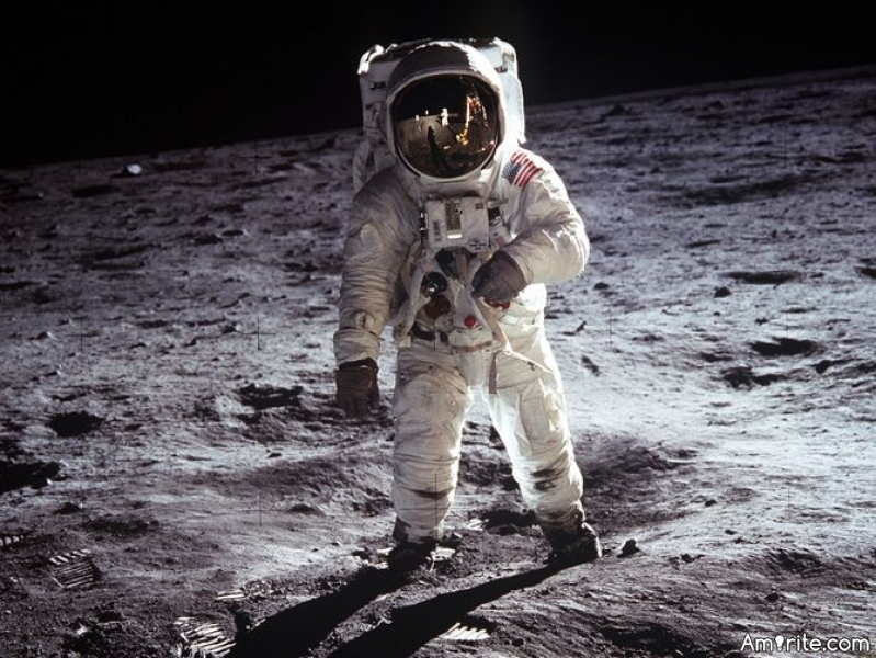 If you were the first man on the moon, what would you have left there?