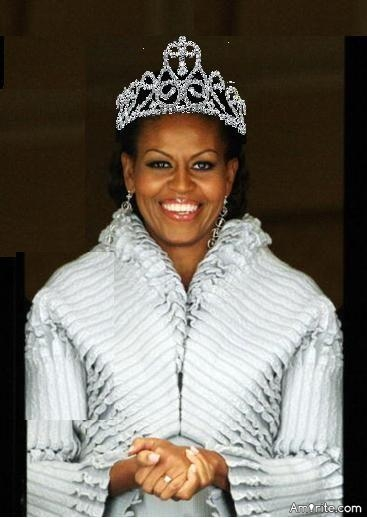 """Michelle Obama designates herself the """"Forever First Lady"""", aka Queen. A bit of self aggrandizing?"""