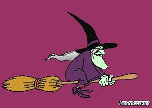 Do witches and old hags really ride brooms?