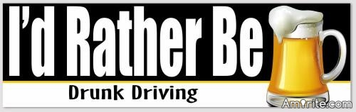 This Bumper sticker would sell quite poorly!