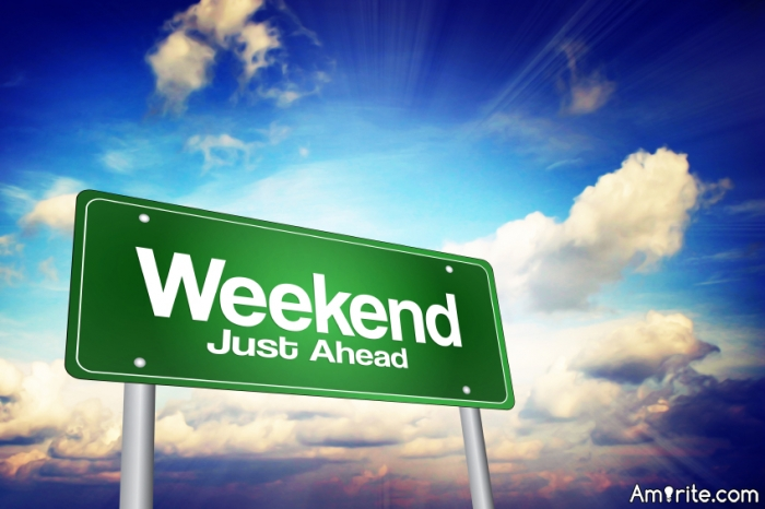 Weekend: What are you going to do this weekend?