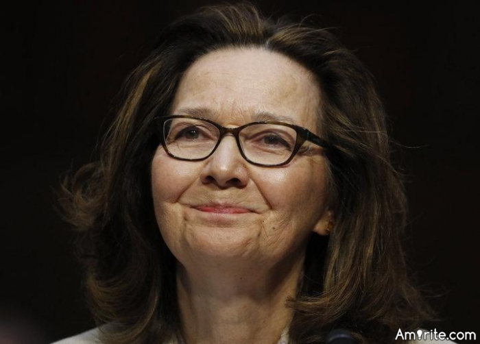 Congratulations to our new CIA Director, Gina Haspel.   She seems well qualified for that position.     I hope she has a spine of steel to be able to stand up to Trump when he asks her to do something illegal.   <strong>Amirite?</strong>