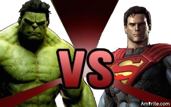 Hulk vs Superman: Who You Got?