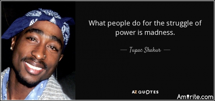 """What people do for the struggle of power is madness."""