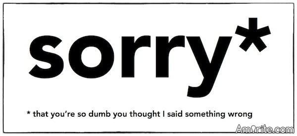 Non-apology apologies aren't really apologies