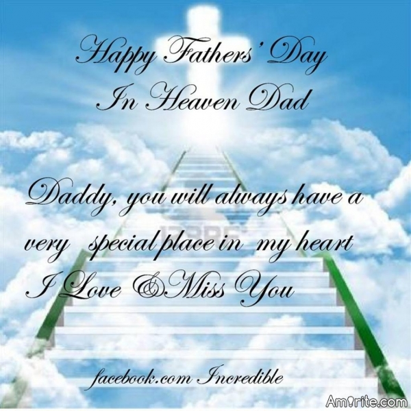 Let's not forget Father's day in heaven ... For all of us who's Father past away ... Happy Father's Day in Heaven.
