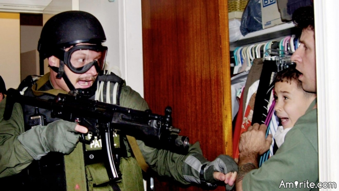 For Shame!!  President Trump removing children from their illegal parents!! Well, at least he didn't use an AUTOMATIC RIFLE, like Bill Clinton did!