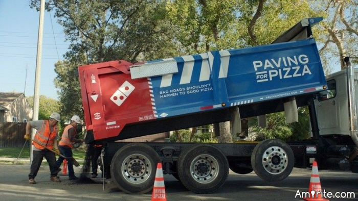 What do you think of the new Domino's Pizza promotion Paving Streets To  Save Pizzas?