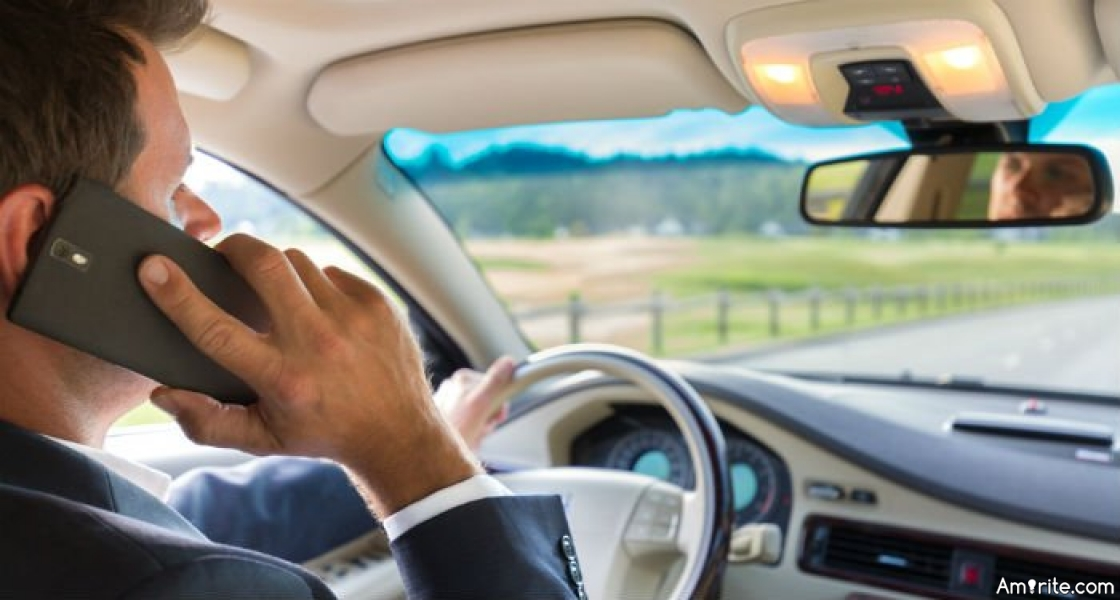 You sometimes use a cell phone while driving, <strong>rite?</strong>