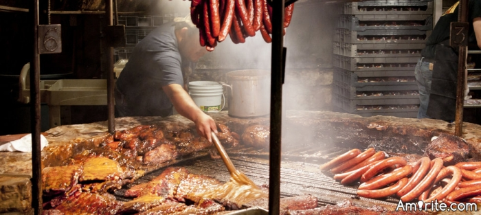 During my limited travel, I've noticed that the word &#34;Barbecue&#34; means a lot of different things to different people. Different types of meats, different types of sauces. <u>To you, what is a normal barbecue made of?</u>