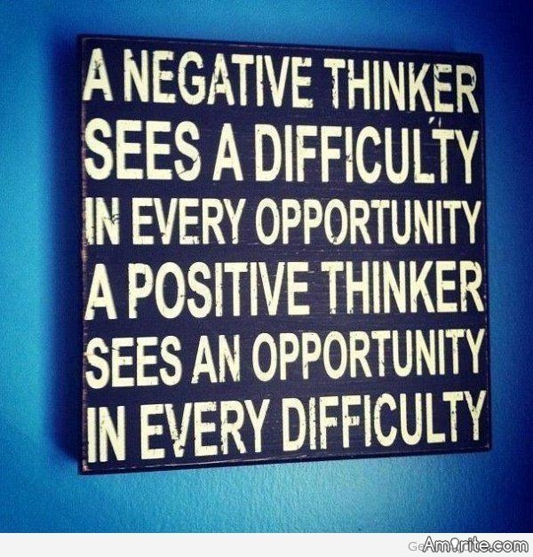When you are able to see any Positive in a Negative situation , you kinda get less vexed :) Amirite ?