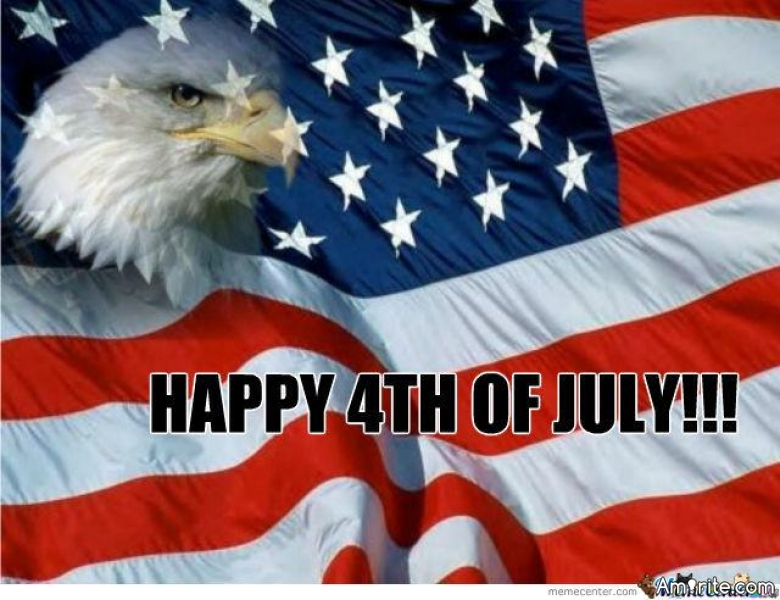 Happy Fourth of July to everyone.   May you have a safe and happy day.