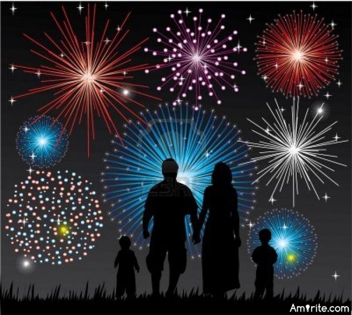 Did you watch fireworks tonight?