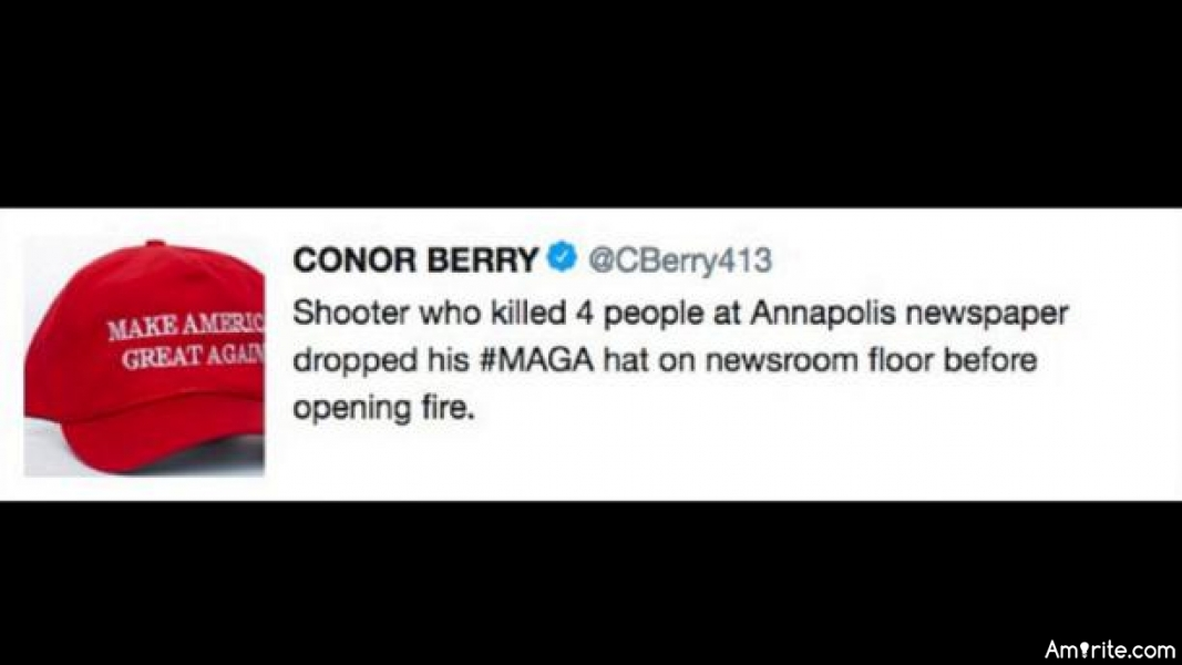 Reporter resigns after false tweet that Maryland shooting suspect had MAGA hat Why Do Reporters Lie?