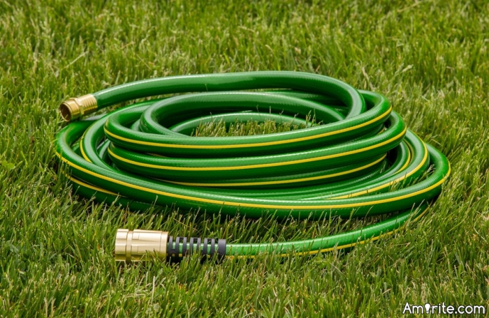 Have you ever had a fight with a garden hose? If so, which one of you survived? I've had ten out of my thirteen lives offed by one of 'em.