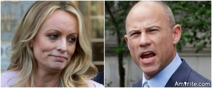 Feminist spokesperson/hero/icon Stormy Daniels arrested for ALLOWING a man to touch her sacred female body on stage....for money!