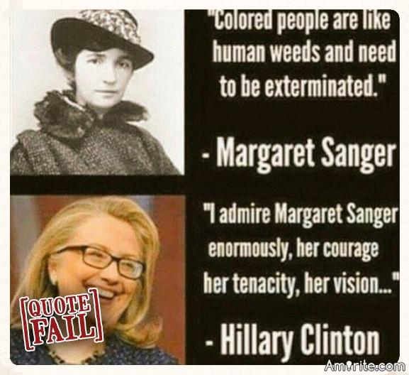 Do you admire Margaret Sanger?