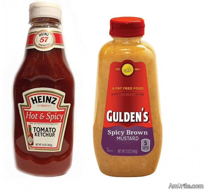 Would You Rather: Drink a full bottle of Spicy Brown Mustard or Drink a full bottle of Hot & Spicy Ketchup? Both have to be done in one sitting, so you can't take a break. No choosing 'other', be a sport. ;p