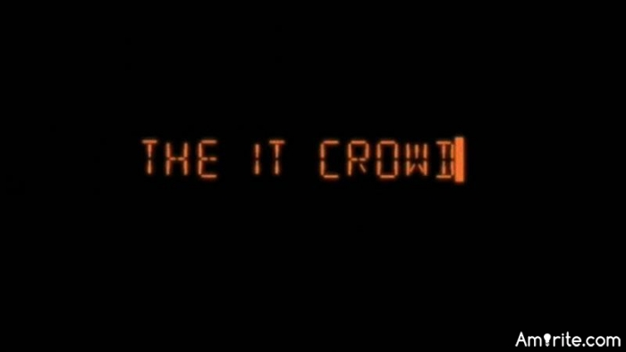 "Have you ever watched ""The IT Crowd""? I find it frigging hilarious."