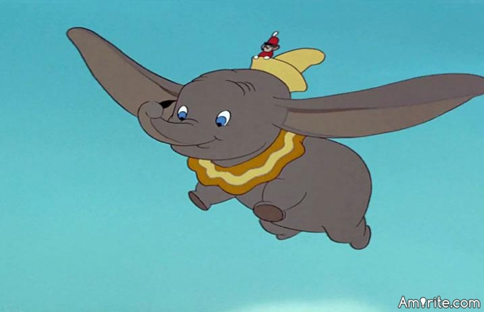 Why didn't Dumbo use his abilities for offering commercial flights? Those ears would've made a lot of profit, had he thought of it even for a bit.