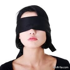 Do you ever wear a blindfold for fun?