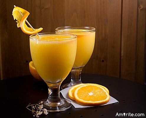 What do you do with   fizzy orange juice?